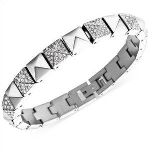 NWT MICHAEL KORS Silver Pyramid Stud Bracelet
